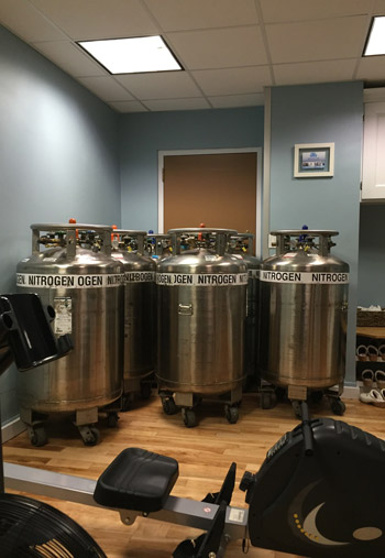 cryosauna liquid nitrogen