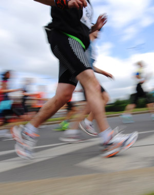 running in marathon